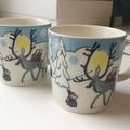 Myydään: Winter forest -moomin mugs, 2 pcs