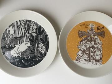 Myydään: Moomin collector's plate set (Fazer) 1/10