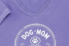 Selling: Dog Mom, I'm just the woman at the end of the leash - V-Neck