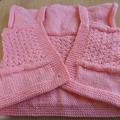 Vente au détail: Bolero bébé 3/6 mois rose