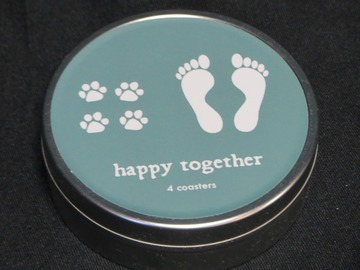 Selling: Happy Together Coaster Set in a gift tin