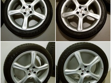 Selling: wide Summer tires with 17 inch Aluminium rims