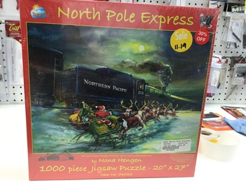 Selling: North Pole  Express 1000 piece jigsaw puzzle