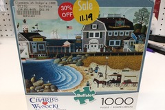 Selling: Charles Wysocki -Clammers at hodge's jigsaw puzzle