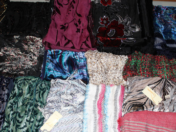 Buy Now: 50 Piece Lot of New High End High Quality Scarves
