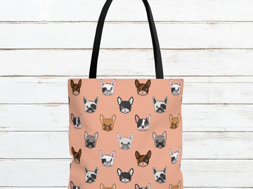 Selling: Free Shipping - French Bulldog Tote Bag Large