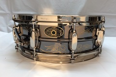 Selling with online payment or cash/check/money order/cash app/Venmo: Tama 5 x 14  Kenny Aranoff Trackmaster engraved brass snare
