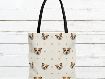 Selling: Free Shipping - English Bulldog Tote Bag