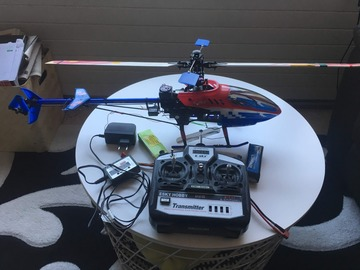 Myydään: RC Helicopter with controller, 2 batteries and chargerRC Hel