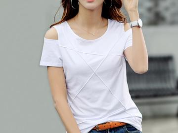 Vente avec paiement en ligne: la taille t shirt femmes tops t-shirt femme camisetas mujer