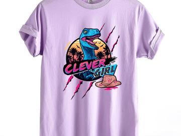 Vente avec paiement en ligne: t-shirt Drôle Jurassic Park Dinosaur Intelligent Fille Impre