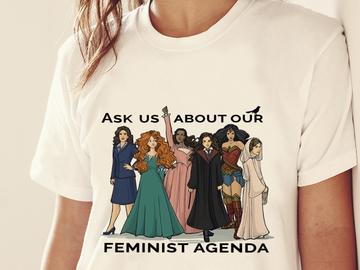 Vente avec paiement en ligne: NOUS POSER des questions SUR NOTRE AGENDA FÉMINISTE t-shirt
