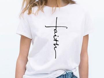 Vente avec paiement en ligne: Nouvelle Arrivée 100% Coton T-shirt Femmes et Hommes Impress