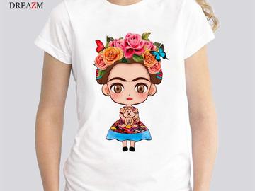 Vente avec paiement en ligne: Vente Chaude T-shirt Femmes 2017 D'été Imprimé à Manches