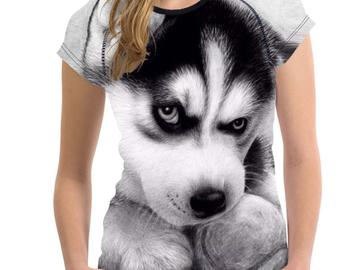 Vente avec paiement en ligne: T-shirt Femelle t-shirt Husky Stupide T-shirts Femmes