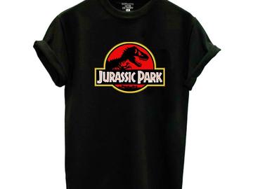 Vente avec paiement en ligne: Nouveau JURASSIC PARK imprimer coton t-shirt pour les Femmes