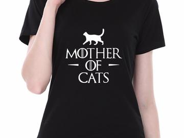 Vente avec paiement en ligne:  T-shirt 2018 Femmes MÈRE DE CHATS Imprimé Femme T-shirt