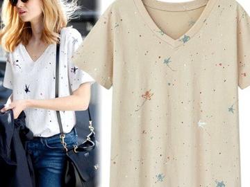 Vente avec paiement en ligne: Femmes t-shirt d'impression De la Mode