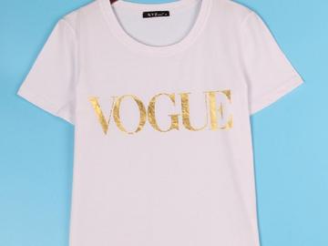 Vente avec paiement en ligne: Plus la Taille XS-4XL De Mode D'été T Shirt Femmes VOGUE