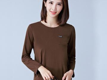 Vente avec paiement en ligne: T-Shirt Femmes T-Shirts À Manches Longues Automne Tops