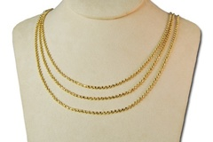 Buy Now: 25-- Joan Rivers 3-row Necklace-- $1250 retail  --$4.00 each