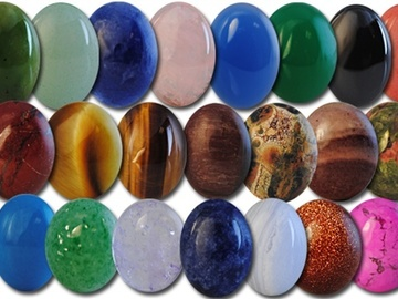 Buy Now: 200-- Genuine Semi Precious Cabachons 12 x10mm ovals .50 pcs