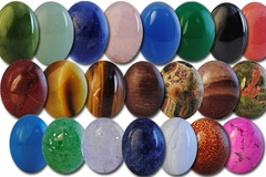 Buy Now: 200-- Genuine Semi Precious Cabachons 14 x10mm ovals