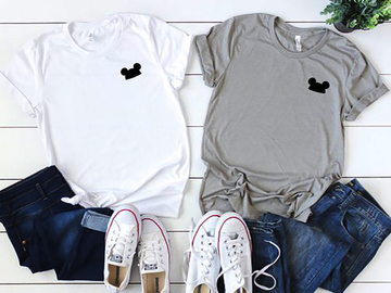 Vente avec paiement en ligne: T-shirt Amis T-shirt Mickey Femme Graphic Tees Femmes Mickey