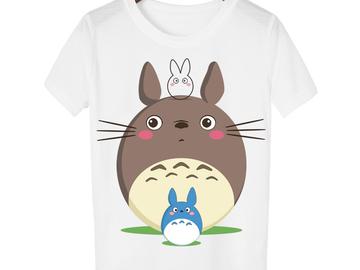 Vente avec paiement en ligne: Casual T-shirt Femmes T-shirt Harajuku Totoro Imprimer Camis