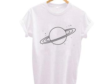 Vente avec paiement en ligne: Planète T-shirt Femmes Tumblr Graphique T-shirt Espace