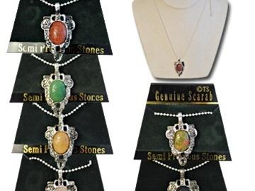 Buy Now: 40- Genuine Stone Scarab Necklaces-- $2.50 pcs!