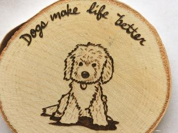 Selling: Golden Doodle Wood Magnet