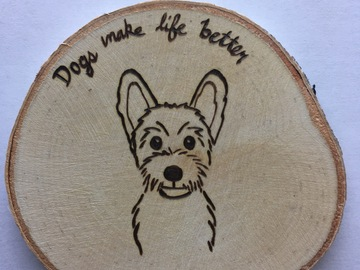 Selling: Schnauzer Dog Wood Magnet