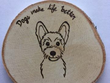 Selling: Schnauzer Dog Wood Magnet