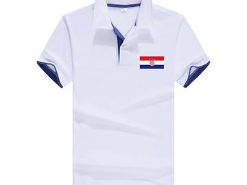 Vente avec paiement en ligne: Hommes Nouvelle Marque drapeau Croate polo impression