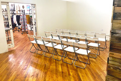 Request To Book & Pay In-Person (hourly/per party package pricing): Studio Room Behind Boutique In Historic Downtown McKinney
