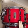 Selling with online payment or cash/check/money order/cash app/Venmo: Tempus 8x14 red fibreglass snare drum