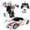 Buy Now: Lot of 8 . White RC PORSCHE TRANSFORMER ROBOT /CAR r