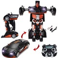 Buy Now: 8 Black Bugatti Remote Control Transformer Car Toys