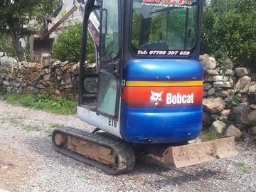 Daily Equipment Rental: Bobcat 1.5Te Excavator - self drive