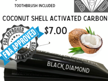 Selling with online payment: Black Diamond Charcoal Toothpaste
