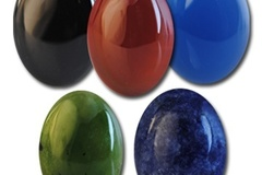 Buy Now: 100-- Genuine Semi Precious 25/18mm oval stones $1.25 pcs