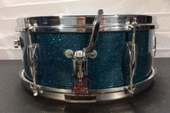 Selling with online payment or cash/check/money order/cash app/Venmo: SOLD! Norma Snare Drum - 60s Japanese - blue sparkle - Like New