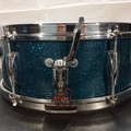 Selling with online payment or cash/check/money order/cash app/Venmo: Norma Snare Drum - 60s Japanese - blue sparkle - Like New