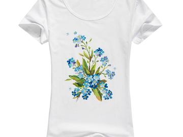 Vente avec paiement en ligne: Imprimé floral Graphique T-shirts 2017 T-shirt Occasionnel