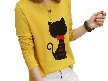 Vente avec paiement en ligne: Imprimer Animal T Shirt Femmes Automne Et Hiver T-Shirt