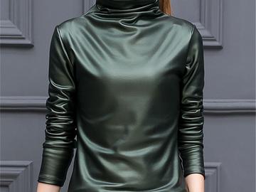 Vente avec paiement en ligne: 2018 Nouveau T-shirt Femme Mode Col Roulé t-shirt