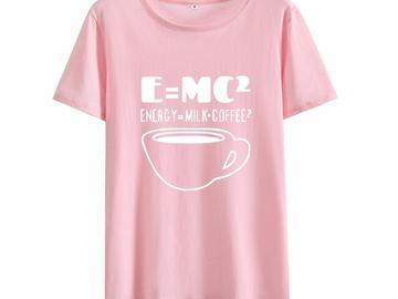 Vente avec paiement en ligne: 2018 Drôle CAFÉ T Shirt Femmes Graphique T-shirt Femme