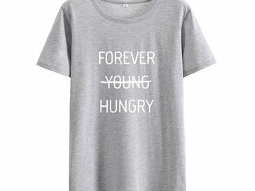 Vente avec paiement en ligne:  Jeune Faim T-shirt Femme D'été Harajuku T-shirt