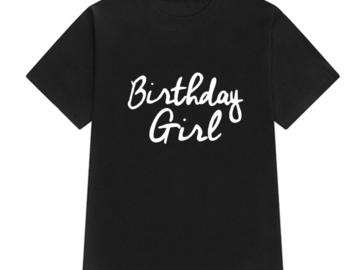 Vente avec paiement en ligne: T-shirt d'été Femmes Imprimé D'anniversaire T-Shirt Occasion
